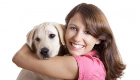 Woman and Puppy